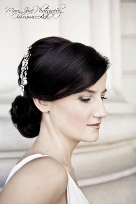 Gorgeous classy bridal hair and makeup