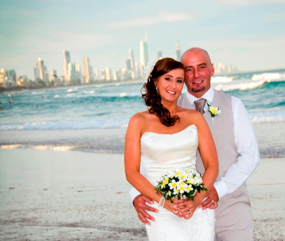 Bridal hair and makeup at Surfers Paradise