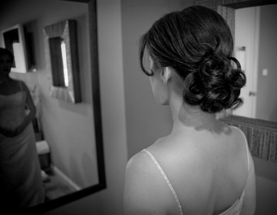Pretty bridal hair and makeup